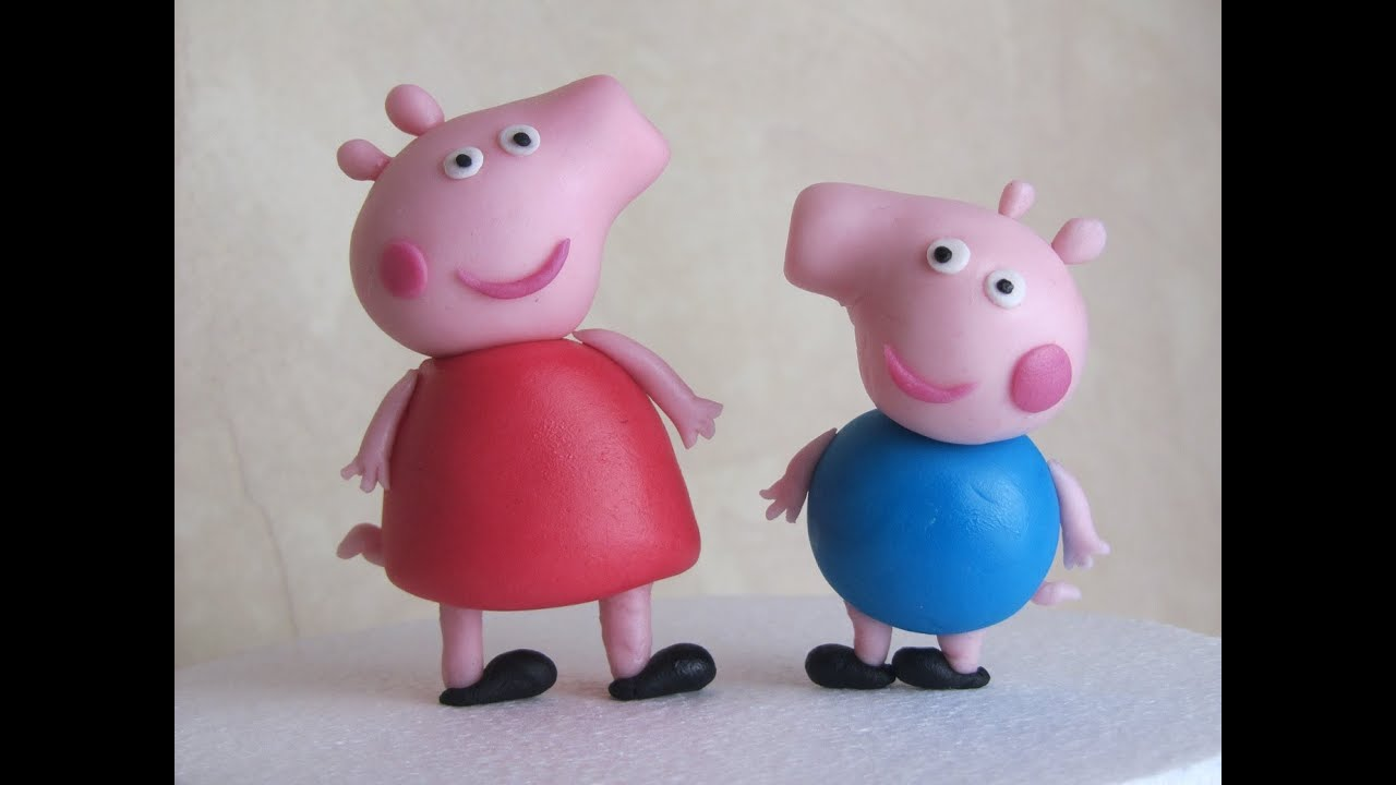 Peppa Pig Fondant Cake Topper