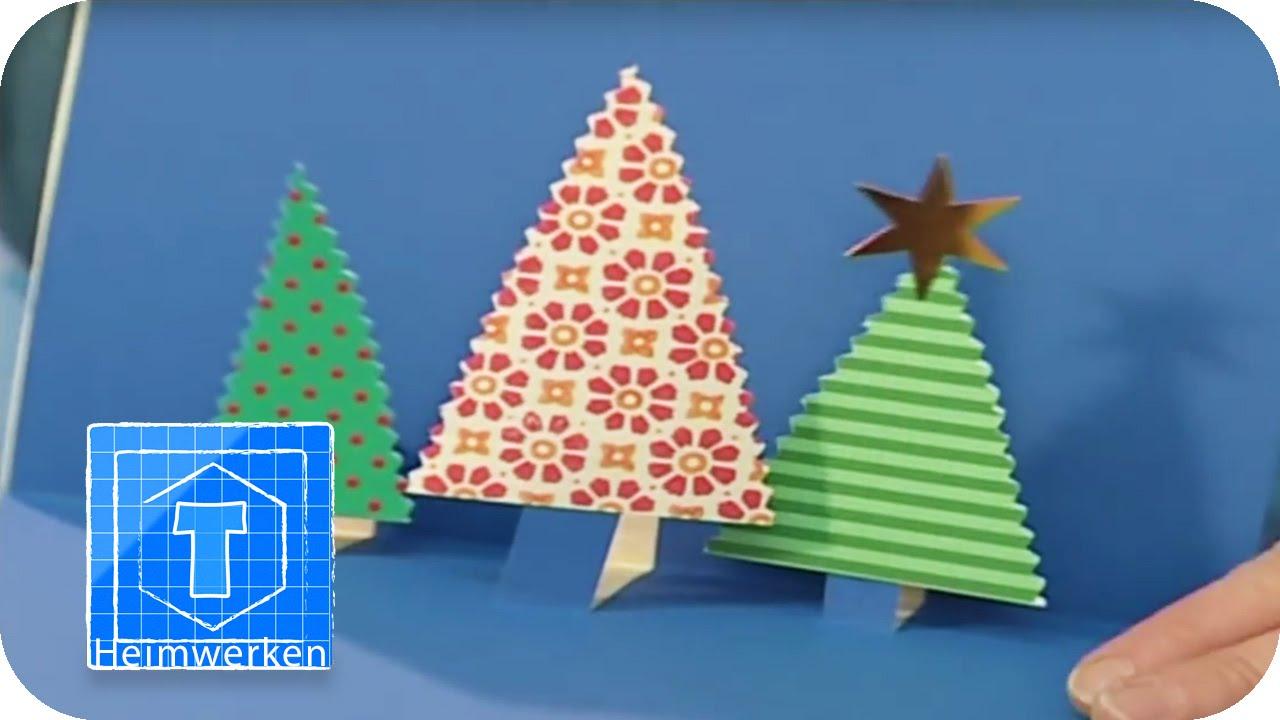 dekotipp f r weihnachten karten individuell selbst gestalten und basteln youtube. Black Bedroom Furniture Sets. Home Design Ideas