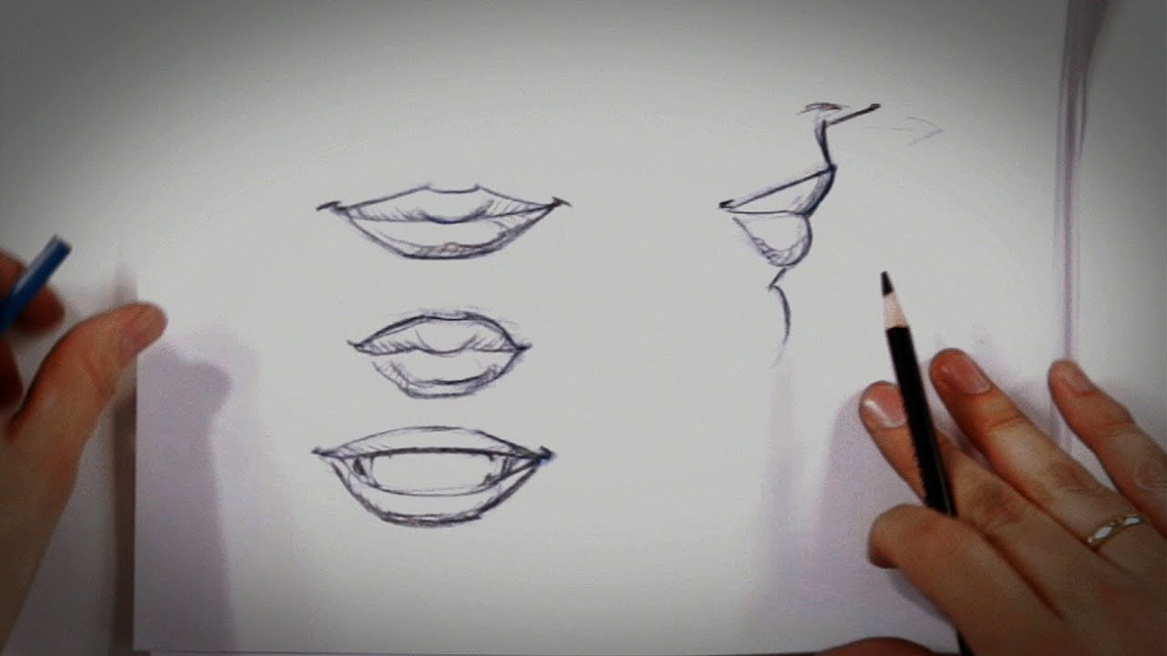 How to Draw Lips | Drawing Tips - YouTube Pencil Drawings Of Lips Smiling