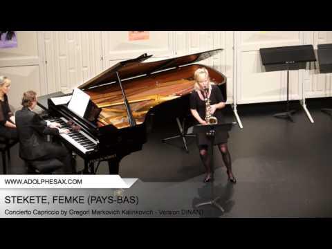 Dinant 2014 STEKETEE Femke Concierto Capriccio by Gregori Markovich Kalinkovich Version DINANT