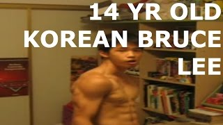 FLEXSHOWS: THE 14 YR OLD KOREAN BRUCE LEE: MUSCLE