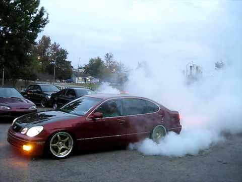 Lexus GS300 с двигателем 2JZ-GTE жжет резину. 600 л.с.
