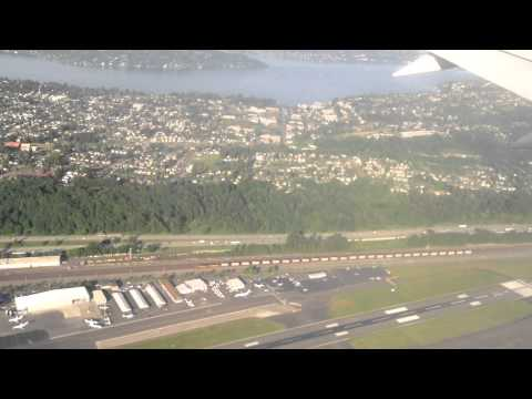 Seattle, Washington - Landing at Seattle-Tacoma International Airport HD (2014)