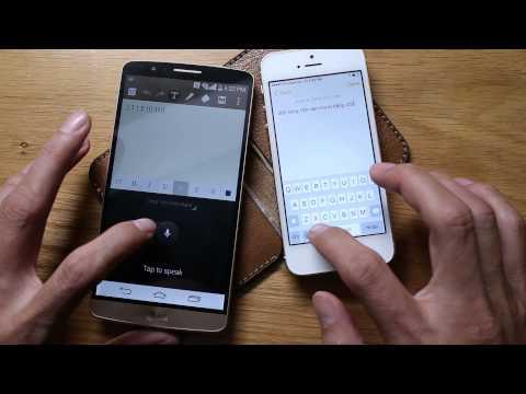 Thử nhận dạng giọng nói trên Androi 4.4 và iOS 8