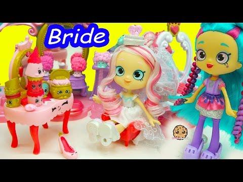 Wedding Shoppies Doll Bride Bridie Is Getting Married + Season 7 Shopkins + Princess Set