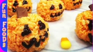 [Pumpkin Rice Crispy Treats (Halloween Treats)] Video