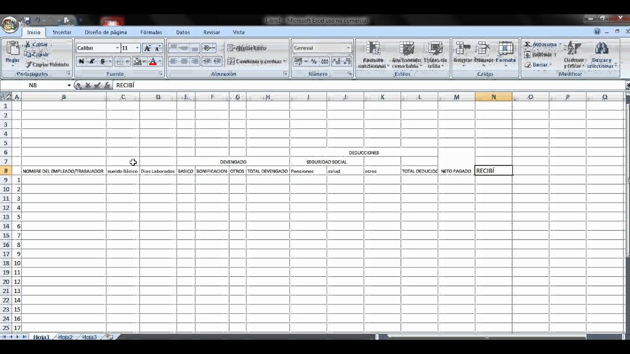 Video excel elaboracion de n mina youtube for Nomina de trabajadores en excel