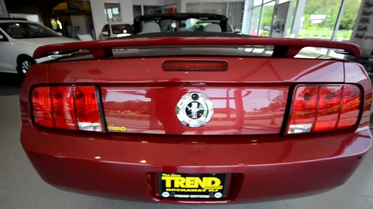 2006 ford mustang convertible stk 29271b for sale for Trend motors rockaway nj