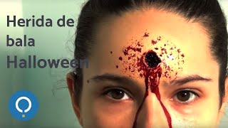 Maquillaje Halloween: Herida de bala