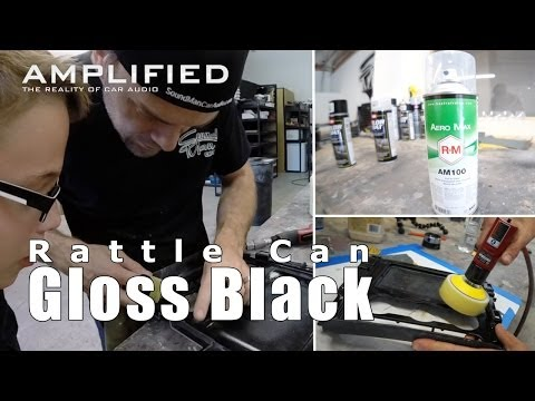How to Paint Gloss Black with Rattle Cans - Amplified #151