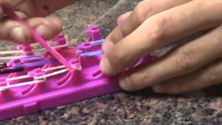 How To Make A Rainbow Bridge With Crazy Loom!