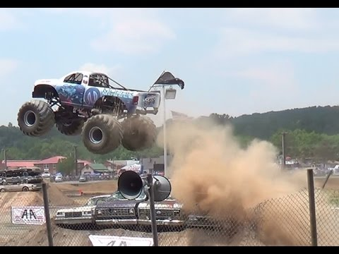 PT 1 Freestyle monster trucks bloomsburg 7-12-14