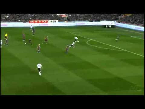 Gol anulado  a Jordi Alba en Valencia-FC Barcelona. Fuera de juego clarisimo