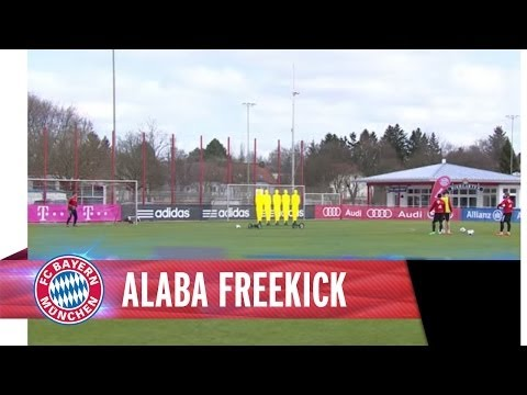 David Alaba amazing freekick