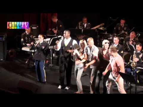 Militarii americani au interpretat un șlagăr moldovenesc la Filarmonică
