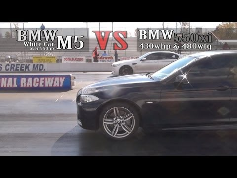 430whp BMW 550xi vs BMW M5