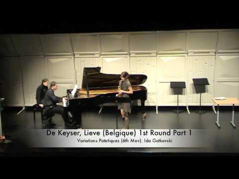 De Keyser, Lieve (Belgique) 1st Round Part 1
