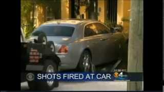 Live footage of Rick Ross car getting shoot at by GD's with a ak 47 in ft lauderdale last night