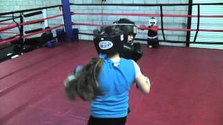 """Little Girl """"Alexis"""" Beats Up Older Boy In Boxing Gym"""