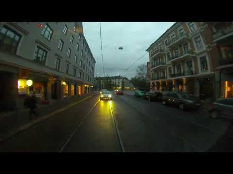 Oslo, Norway - Tram 12 Time Lapse - Vigelandsparken to Jernbanetorget HD (2013)