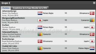 Fixture Mundial Sudafrica 2010.