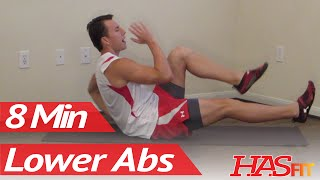 8 Minutes Lower Ab Workout HASfit's Lower Abdominal