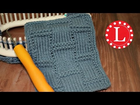 LOOM KNITTING STITCHES Textured Tiles  - A Knit and Purl Combination Pattern by Loomahat
