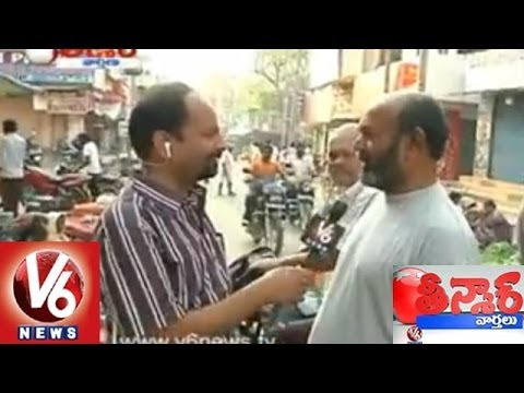 V6 Reporters Taking Opinion Polls On Elections From Nalgonda and Karimnagar - Teenmaar News