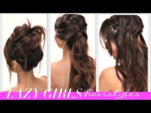 ★4 EASY Lazy Girl's BACK-TO-SCHOOL HAIRSTYLES   CUTE HAIRSTYLE   BRAIDS + MESSY BUN