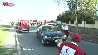 مُــثير و بالفيديو..لحظــة هروب رجال المطافئ بعد انفجار معمل بالقنيطرة   |   بــووز