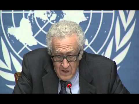 Lakhdar Brahimi,  the conclusion of the first round of intra-Syrian talks 31 \ 01\ 2014