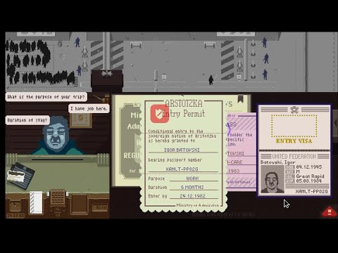 Papers, Please - Longplay (all tokens, Ending 18)