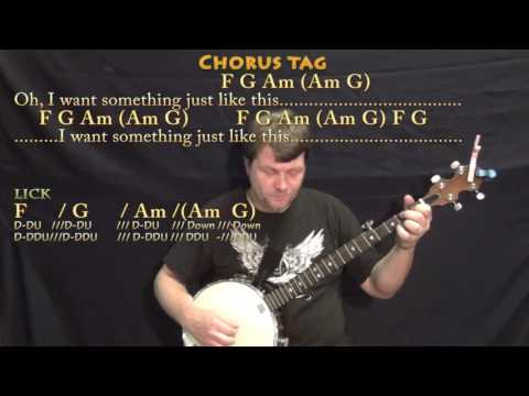 Something Just Like This (The Chainsmokers) Banjo Cover Lesson in C with Chords/Lyrics