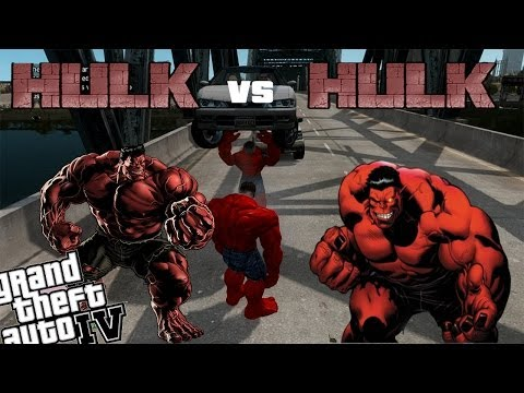 GTA 4 Red Hulk Mod - Red Hulk vs Red Hulk Ultimate Battle
