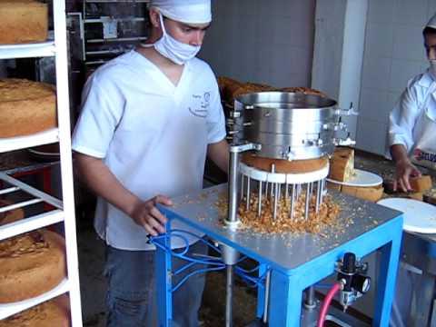 Maquina rebanadora de pasteles