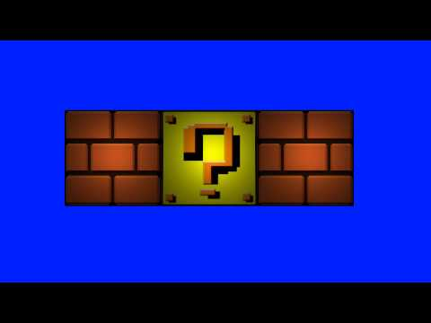 Mario Games Question Block and Brick Block  - Blue Screen Animation