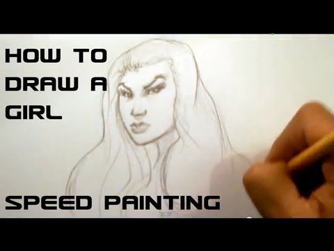 Speed Sketch Drawing a Female - Easy Things to Draw