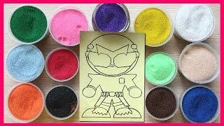 Đồ chơi trẻ em TÔ MÀU TRANH CÁT HÌNH SIÊU NHÂN RÔ BỐT -Colored Sand Painting (Chim Xinh)