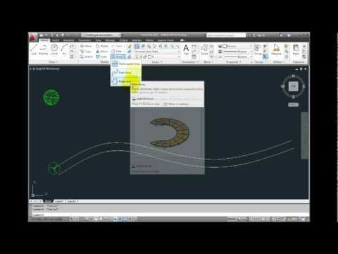 AutoCAD 2012 - Creating an Associative Path Array