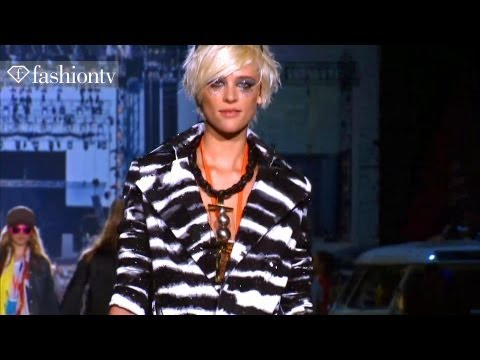 Dsquared2 Runway Show - Milan Fashion Week Spring 2012 PFW | FashionTV - FTV, http://www.FTV.com/videos MILAN - Dean and Dan Caten used the UK Glastonbury Festival for their Milan Spring/Summer 2012 collection motif for Dsquared2 this ...