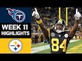 Titans vs Steelers NFL Week 11 Game Highlights