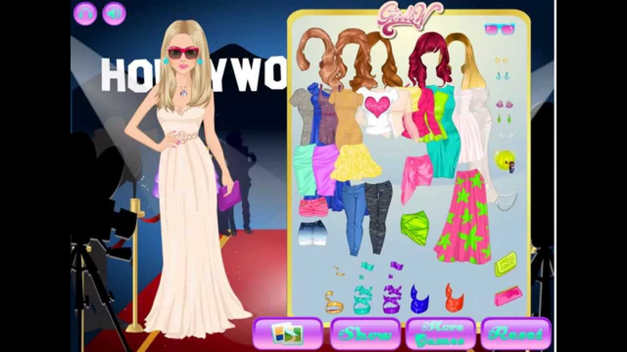 hollywood fashion   dress up games for girls   youtube
