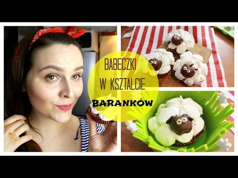 Wielkanocne muffinki/ babeczki w kształcie baranków