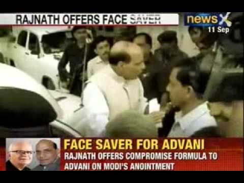 NewsX: Rajnath offers compromise formula to Avani on Modi's anointment
