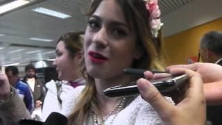 Martina Stoessel En Paraguay 2013 Llegada De Tini Y