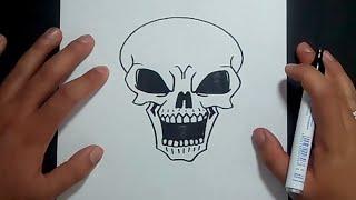 Como Dibujar Una Calavera Paso A Paso 12 How To Draw A