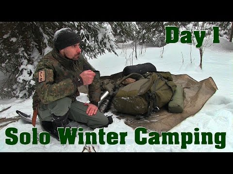 The Adventure begins! Solo Winter Camping in the Forest | Day 1