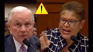 Pissed Congresswoman Brings Race Politics From 50 Years Ago Into Jeff Sessions Grilling Session!