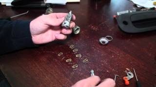 Recode, Rekey Car Door Lock Cylinder Use Any Key To