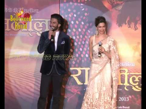 Deepika Padukone & Ranveer Singh at trailer launch of 'Ram Leela' 1